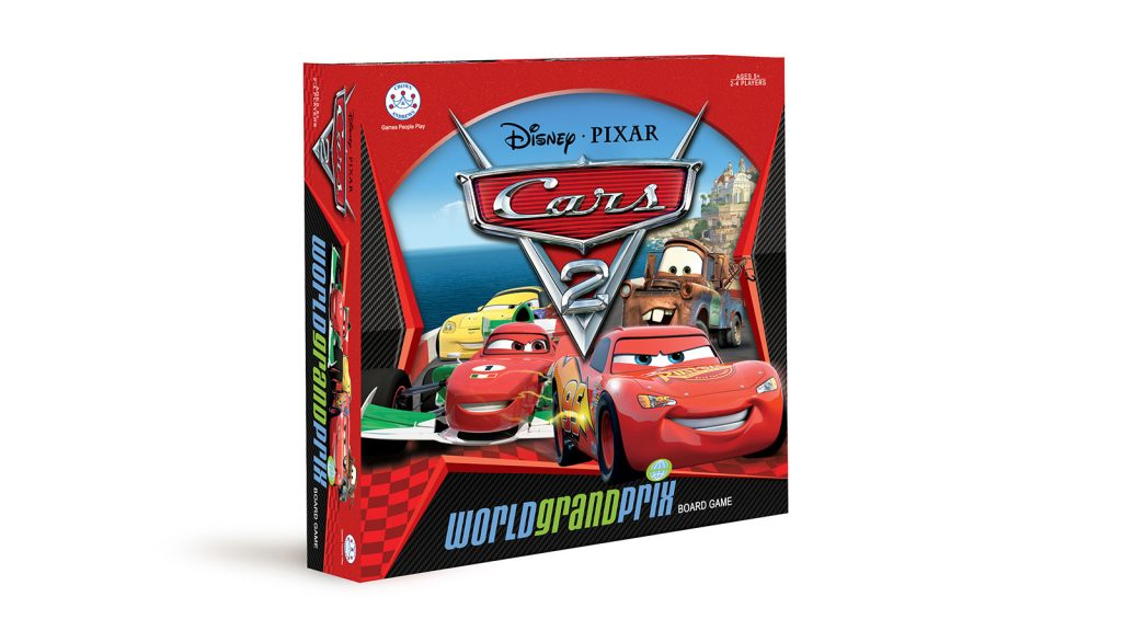 Cars 2 grand prix board game - created by Wildstone PKG