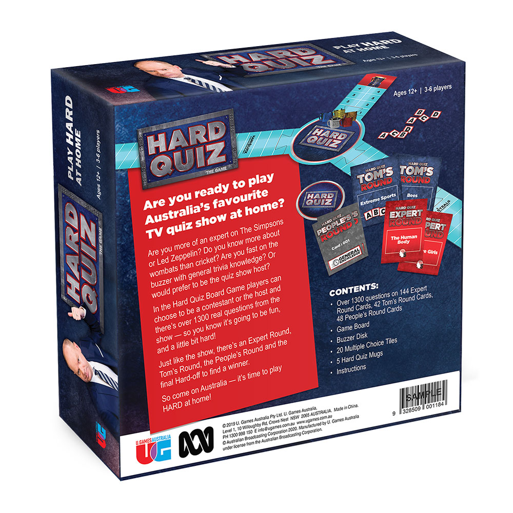 Hard Quiz game box back